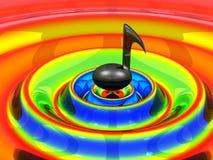 Nota musical sobre ondas Imagenes de archivo
