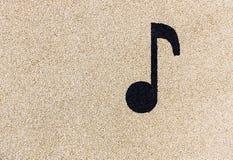 Nota musical sobre patio Fotos de archivo