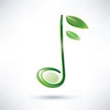 Nota musical verde Foto de archivo libre de regalías