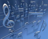 Nota musicale Immagini Stock