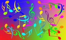 Nota musicale Fotografia Stock