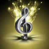 Nota musicale astratta. Fotografia Stock Libera da Diritti