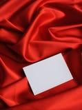Nota na seda vermelha Imagens de Stock