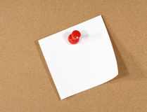 Nota over Corkboard stock foto