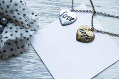Nota para amado su muchacha foto de archivo libre de regalías
