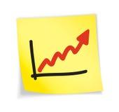 Nota pegajosa amarela Foto de Stock Royalty Free