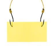 Nota pegajosa amarela Imagem de Stock