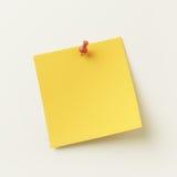 Nota pegajosa amarela Fotografia de Stock Royalty Free
