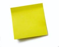 Nota pegajosa amarilla clara Foto de archivo libre de regalías