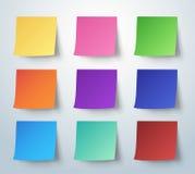 Nota pegajosa colorida, post-it Ilustração do vetor Imagem de Stock Royalty Free