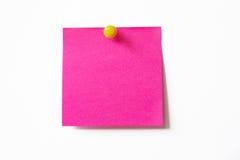 Nota pegajosa cor-de-rosa imagens de stock royalty free