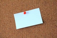 Nota pegajosa en blanco Foto de archivo libre de regalías