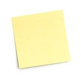Nota pegajosa en blanco sobre blanco fotos de archivo libres de regalías