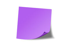 Nota pegajosa púrpura Imagenes de archivo
