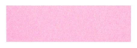 Nota pegajosa retangular cor-de-rosa lisa Foto de Stock