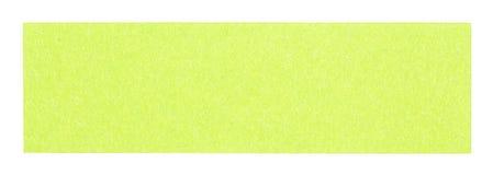 Nota pegajosa retangular verde lisa Fotos de Stock Royalty Free