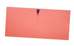Nota roja simple con el camino Imágenes de archivo libres de regalías