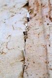 Nota's aan stenen van de gods de westelijke muur Stock Foto