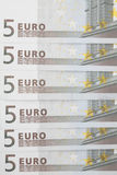 Bankbiljetten van 5 euro. Royalty-vrije Stock Afbeeldingen