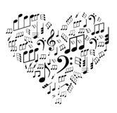 Nota's over het hart Royalty-vrije Stock Afbeeldingen