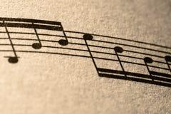 Nota's van Muziek Royalty-vrije Stock Afbeeldingen