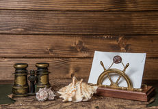 Nota's voor mariene avonturier Royalty-vrije Stock Foto