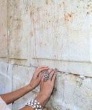 Nota's in westelijke muur Stock Fotografie