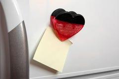 Nota sobre el refrigerador Imágenes de archivo libres de regalías