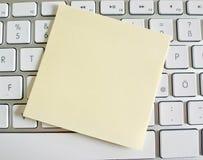Nota sobre el teclado de ordenador: espacio Fotos de archivo