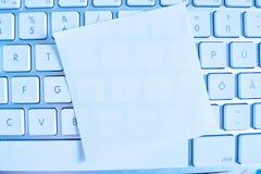 Nota sobre el teclado de ordenador: vacío Foto de archivo libre de regalías