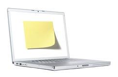 Nota sobre la computadora portátil Imagen de archivo libre de regalías