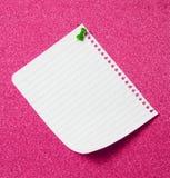 Nota sobre tarjeta del Pin Fotografía de archivo