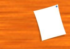 Nota sulla scheda di legno Fotografie Stock Libere da Diritti