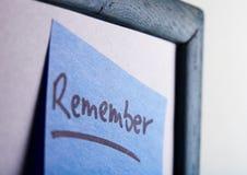 nota - tarjeta de la idea Imagenes de archivo