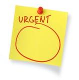 Nota urgente Imagens de Stock