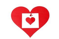 Nota van hart Royalty-vrije Stock Afbeelding