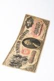 Nota velha do dólar imagens de stock