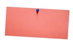 Nota vermelha simples com trajeto Imagens de Stock Royalty Free