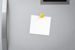 Nota vuota sul frigorifero illustrazione vettoriale