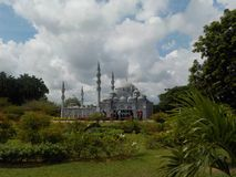 Notable mosques replicas in The Islamic Heritage Park, Kuala Terengganu, Malaysia stock image