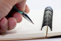 Notaboek stock afbeeldingen