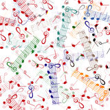 Notación de música que repite el modelo ilustración del vector