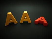 Notación del AAA que pierde Foto de archivo libre de regalías