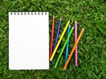 Notadocument Kleur Stock Afbeelding