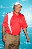 Notah Begay alla sfida della base di golf di Callaway che avvantaggia i programmi di ricerca sul cancro della base dell'industria  Fotografia Stock Libera da Diritti