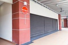 Notalarmknopf am Gebäude für Sicherheitswarnung Stockfotos