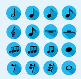 Notapictogram van muziek Royalty-vrije Stock Afbeelding