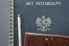 Notarial act stock photo