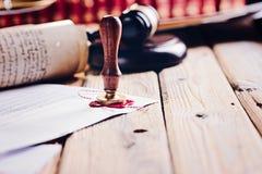 Notariusza społeczeństwa wosku stemplówka obrazy stock