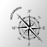 Notarized słowo pisać na boku kompas Obraz Royalty Free